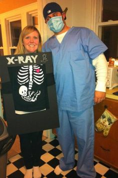 I don't think pregnant ladies are supposed to get x-rays, but STILL a pretty fun idea!