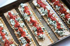 spinach lasagna roll ups--freezer meal