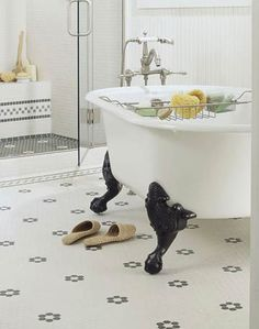 Vintage-Style Bathroom Flooring