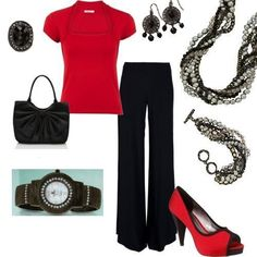 """""""Main Event"""" necklace and bracelet. """"Elan"""" earrings """"Black Tie"""" ring, and """"Night Watch."""""""