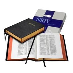 NKJV wide margin reference Bible, black goatskin (This is my everyday reading/study Bible) #books