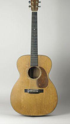 Woody Guthrie's Martin guitar, 1937