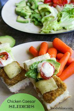 Chicken Caesar Sliders for an easy summer supper