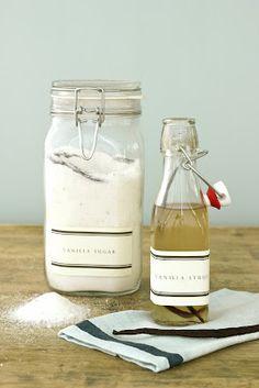 homemade vanilla sugar + vanilla bean syrup