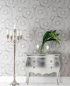 decor, wall patterns, mirrored furniture, dresser, silver, wallpaper designs, charles rennie mackintosh, wallpapers, diy projects