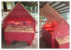 handmade wooden chicken coop