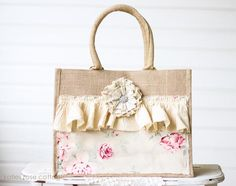 Burlap Shoulder Bag