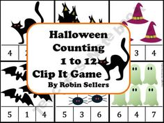Halloween Counting Clip It Game