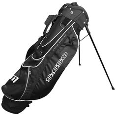"""S:650 Stand Bag in Black - Includes new design balanced double strap, large storage pockets and a 6.5"""" divider top"""