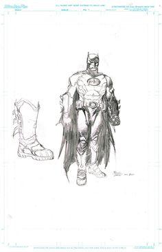 Batman Costume Design - David Finch Comic Art