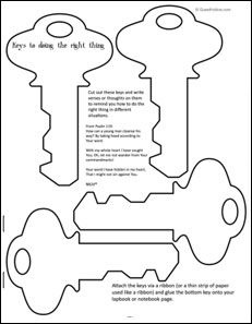 printable key template for kids
