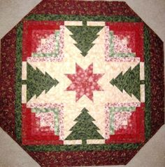 Evergreen Table Top Quilt Pattern from Vermont Quilt Design | kgkrafts - Quilts on ArtFire