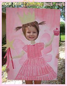 "Brilliant party idea! Create a fun ""Photo Op"" cut out board for the kiddos. Endless possibilities."