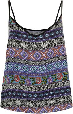 aztec print cami - #folk #folklore #fashion #snowbirds