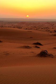 Desert Sunset - Arabian Desert, Saudi Arabia