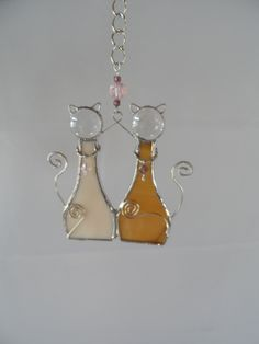 2 Cats Sun Catcher with collars - $20.00 at Jitter Beans in Mineral Wells, TX