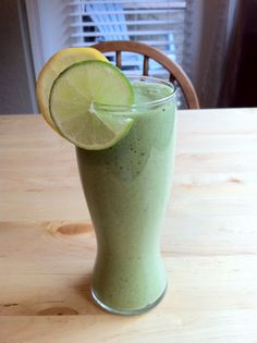 Lemon Lime Detox Smoothie...lemon, lime, bananas, OJ,water and optional kale... def going to try this.