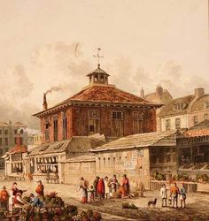 Clare Market by T.H. Shepherd (1815). Today the London School of Ecomics stands in its place