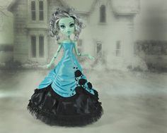 Monster High clothes turquoise and black long  victorian dress on Etsy, Sold