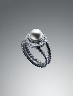 petit ring, davidyurman, style, diamonds, pearls, albion petit, david yurman, jewelri, pearl ring