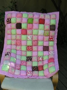 "A ""biscuit quilt"" like this one was my first attempt at quilting."