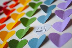 Personalized Wedding Gift - Rainbow 3D Hearts - Perfect to give as a wedding or anniversary gift
