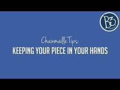 How to Hold Your Chainmaille While Working (chainmaille making tips) - YouTube