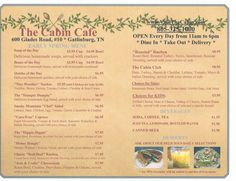 The Cabin Cafe. You absolutely must eat here if you are in Gatlinburg, TN. #vacation #restaurant #food #smokymountains