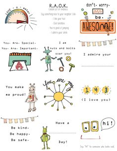 Lunchbox notes- Free printables!