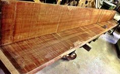 """16' x 14"""" x 2.5"""" Ribbon Sapele boards Perfectly clean, flat, excellent chatoyance, remarkably stable after re-sawing.  Pricing usually under $6.50 bd/ft, so one board prices between $200-300."""