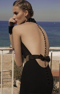 "Back of the ""Mars"" Dress | Moonstruck Collection by Designer Galia Lahav"