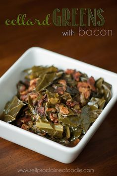 Collard Greens with Bacon | Self Proclaimed Foodie