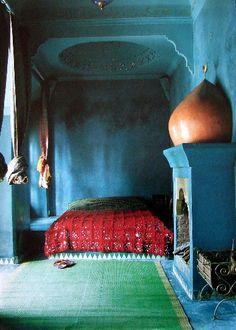 ⋴⍕ Boho Decor Bliss ⍕⋼ bright gypsy color & hippie bohemian mixed pattern home decorating ideas - moroccon dreams