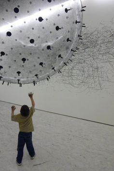 A Helium-filled Kinetic Drawing Sculpture by Karina Smigla-Bobinski