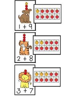 Ten Apples Up On Top: tens frame match