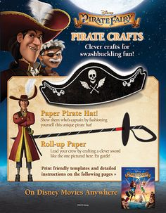 If ye be talking like a pirate today, ye best be lookin' like one with these fun Piratey crafts.
