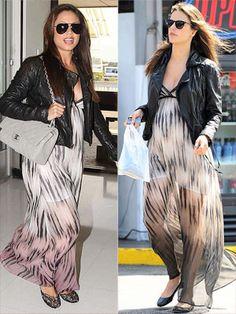 Alessandra Ambrósio and Vanessa Lachey in the same beautiful maxi dress. Perfect maternity chic!