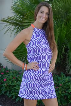 SOUTHERN BELLE Purple Orange Clemson Gameday dress Shop Simply Me Boutique – Simply Me Boutique
