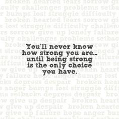 Trust yourself !