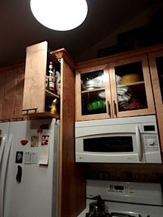above fridge