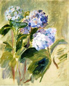 Branch of a Hydrangea - Berthe Morisot - 1894
