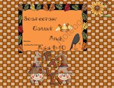FREE Scarecrow Count and Add 1-10 from Fun and Learning on TeachersNotebook.com -  (14 pages)  - Children use candy corn to make different combinations to 10