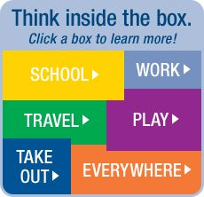 Think inside the box. Click on a box to learn more!