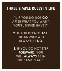 3 simple rules in life |