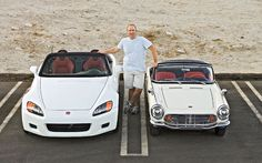 """1964 Honda S600 versus a 2000s-era Honda S2000. Both were considered """"small cars"""" for their time."""