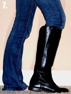 How to tuck your non-skinny jeans into boots. This is really smart!