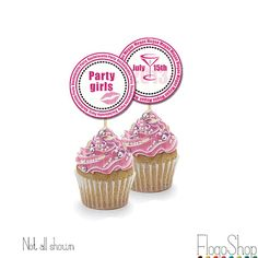 10 Bachelorette party cupcake toppers Bridal shower by FlogoShop, $6.00