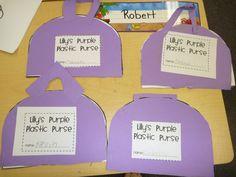 Lily's Plastic Purse story element idea