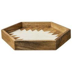 Nate Berkus Wood and Resin Hexagon Tray