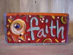 Faith Brick Whimsical Garden Art